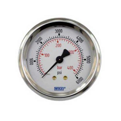 Pressure Gauge Back Inlet 6000 psi (414 Bar)