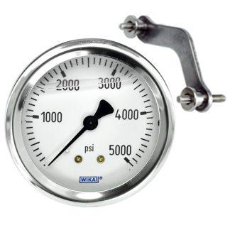 Pressure Gauge | Back Inlet 5000 psi Fits: GAU-5000, Bauer