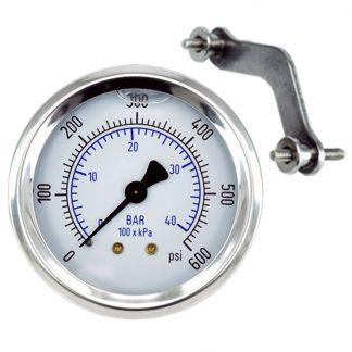 Pressure Gauge 600 psi (42 Bar) Fits: GAU-0600, GAG-0007W, Bauer