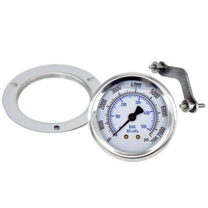 Pressure Gauge 7500 psi (517 Bar) Fits: GAU-7500, GAG-0009W, Bauer