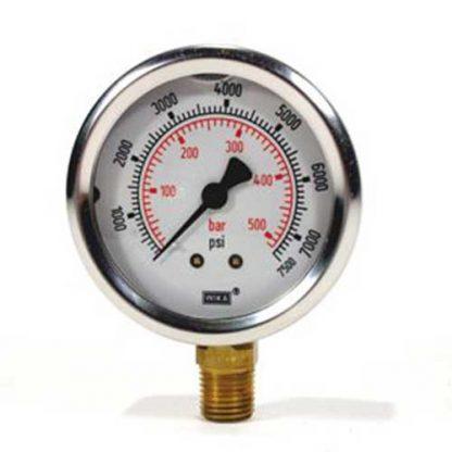 Pressure Gauge Lower Inlet 7500 psi (517 Bar)