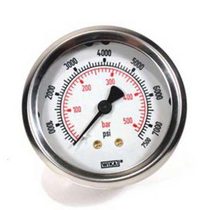 Pressure Gauge Back Inlet 7500 psi (517 Bar)
